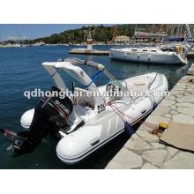 barco de la costilla de lujo de fibra de vidrio casco HH-RIB580C con CE