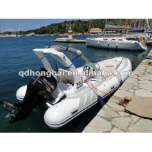 luxury fiberglass hull rib boat HH-RIB580C with CE