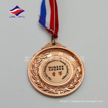 3D personnalisé logo sport médaille sport médaille d'or argenté cuivre