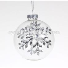 Chaleira de Natal de vidro transparente decorada com qualidade fina
