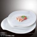 2016 Neue Produkte haltbare Fabrik weiße Keramik Porzellan rechteckige Platten im Restaurant verwendet