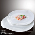 2016 New products durable factory white ceramic porcelain rectangular plates used in restaurant