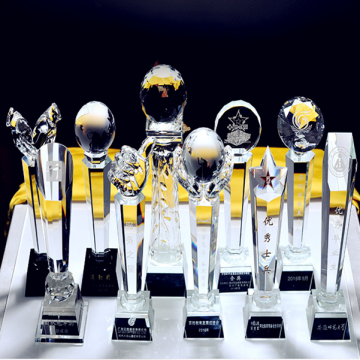 3D Grabado Crystal Ball Footall Champions Trophy Awards