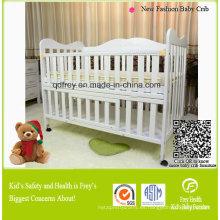 Venta caliente sólida madera de pino muebles de bebé de cuna