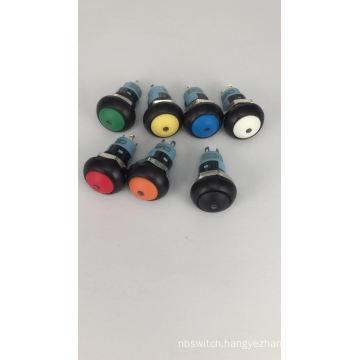 CMP 12mm illuminated locking mushroom button push button switch with dot LED