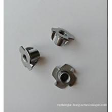 4 Prongs Carbon steel Plain  M6x10 T-Nuts