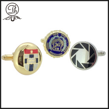 High-grade production customized logo brass cufflinks