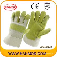 Anti-Scratch piel de vaca Split cuero industrial mano seguridad trabajo guantes (11002)