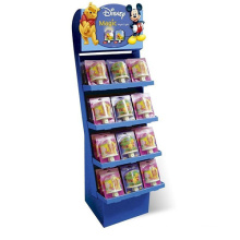 Recycled Cardboard Compartment Retail Floor Display