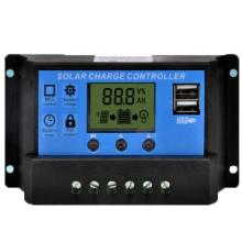 Controlador de carga solar 12V 24V 30A PWM