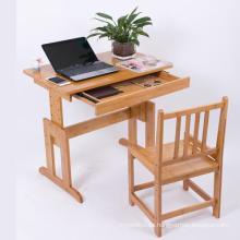 Mesa de computadora combinada de bambú