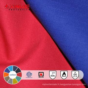 Xinke EN11611 100 coton ignifuge cour de tissu pour les vêtements