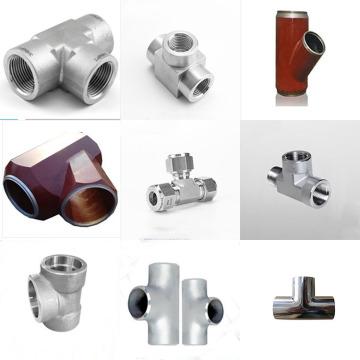 T de aço de liga de montagem de tubos