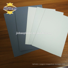 JINBAO 3mm 4mm thick pvc material dark gray pvc Rigid sheet
