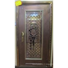 Porte d'entrée en acier inoxydable de haute qualité et bon marché