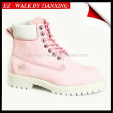 Sapatos de couro de couro para senhoras com pé de aço
