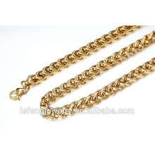 Atacado ouro 18k cadeia colar cheia