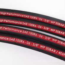 Flexible Black Cloth Surface One Fiber Braid 3/16 Inch Sae 100 R6  Air Oil Water Hose