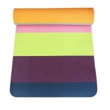 yugland printed Competitive price Anti-Tear anti slip Stitching yoga mat tpe yoga mat