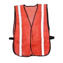 Оранжевый защитный рабочий светоотражающий жилет с эластичными сторонами сетки
