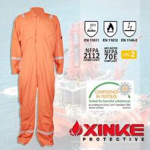 NFPA2112 EN11612 Orange réfléchissant 100% coton ignifuge pompier vêtements