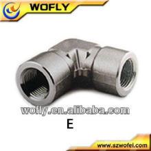 Aluminium-Gussstück-Ellenbogen-Rohrverschraubungen