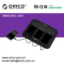 Carregamento USB ORICO DCS-116U para iPhone, iPad, Estação de carregamento para celular, estação de carregamento USB