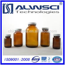 200ml pharmaceutical storage amber wide mouth boston round glass bottle
