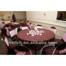 mantel del poliester 100%, cubierta de tabla de fiesta, ropa de mesa