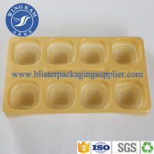 Plastic Flocked Factory Tray With Cover Protect