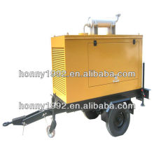 Generador móvil con remolque de dos ruedas