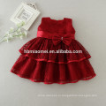 Новорожденного малыша девушки Принцесса платья для крещения девочки 1 год день рождения одежда цветок Крещение платья