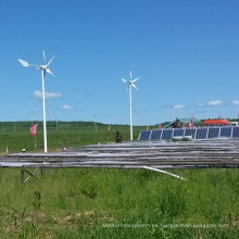 Sistema de fuente de alimentación del panel solar de la turbina de viento usado en granja
