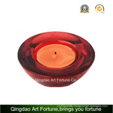 Small Printed Glass Tealight Candle Holder Manufacturer