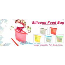 Reusable Silicone Food Storage Bag Washable Silicone Fresh Bag for Fruits Vegetables Meat Preservation