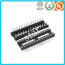 Fabrik benutzerdefinierte 2,54 mm 28 Pin Double Row Pin Header IC-Sockel