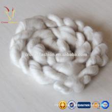 100% branco puro / LT cinza / Brown caxemira Dehaired Tops 100% cashmere tecido