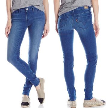 Factory Wholesale Denim Jeans Ladies Skinny Cotton Jeans