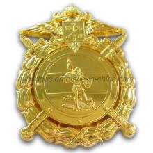 Badge Uniforme d'Or avec Embrayage à Pin de Sécurité (GZHY-BADGE-001)