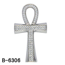 Joyería colgante cruzada de alta calidad de plata 925