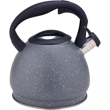 Grey Durable Color Stainless Steel Whistling Teapot