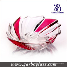 Sea Shell Shaped Red Color Glass Bowl