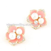 Koreanische süße Blume Perle Ohrring Bolzen Fingernagel Ohrring Pfosten