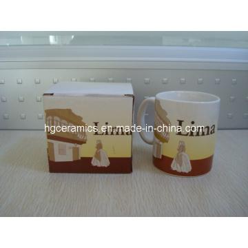 Anuncie la taza de cerámica promocional, 11oz taza de cerámica estándar