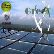 Sistema eléctrico Grid Tie híbrido viento Solar para uso doméstico