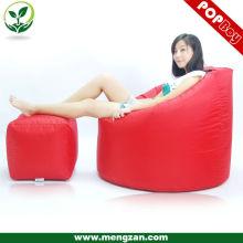 Sac de paille paresseux meuble canapé doux / sac de haricot housse canapé d'angle / vente chaude