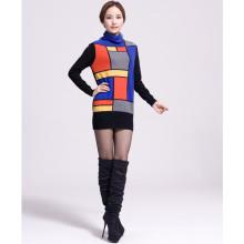 geometric figure women's cashmere sweater