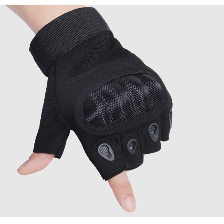 Black Microfiber Tactical Gloves