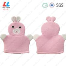 Cute rabbit gloves children shower item