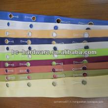 Ruban à rideau à oeillet de 16 mm, ruban à rideau à oeillet 22 mm